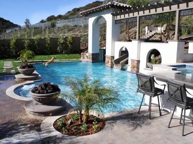 Elegant backyard water park