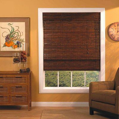 Bamboo roman shades for home or patio indoor outdoor 66 quot x 72