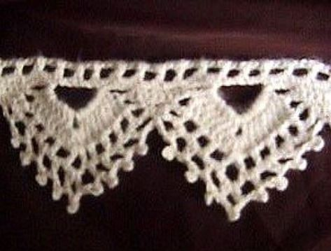 Crochet Lace Pattern For Edging : Crochet Pattern: Picot and Lace Edging crochet it ...