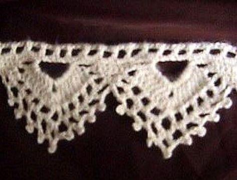 Crochet Pattern: Picot and Lace Edging crochet it Pinterest