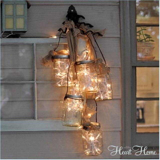 Diy mason jar light fixture cute diy crafty ideas for Homemade light fixtures ideas