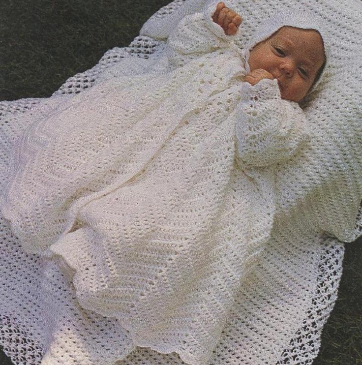 Crochet Patterns Christening Blanket : Baby Christening Dress and Blanket Set crochet Pinterest