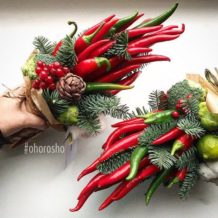Овощная флористика своими руками для мужчин