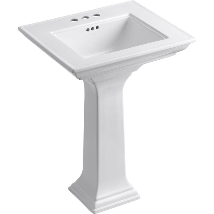 ... 34.75-in H Memoirs White Fire Clay Complete Pedestal Sink at Lowes.com