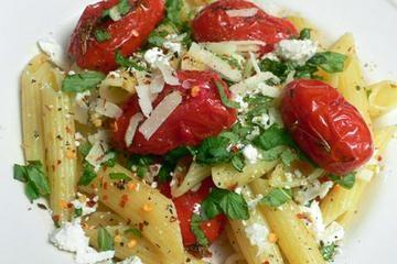 roasted eggplant pepper amp tomato pasta with ricotta amp basil ...