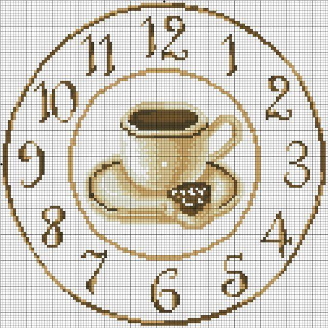 Вышивка крестом схема циферблат 33