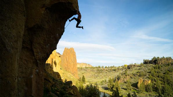 Hanging in Smith Rock State Park (Oregon)