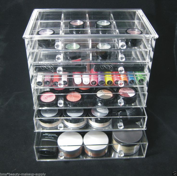 Acrylic 7 drawer counter top makeup organizer beauty - Rangement maquillage acrylique pas cher ...