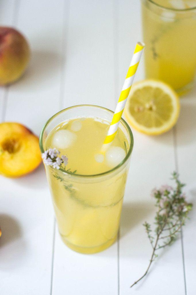 Maple Lemonade with Peaches & Thyme - Wallflower Girl