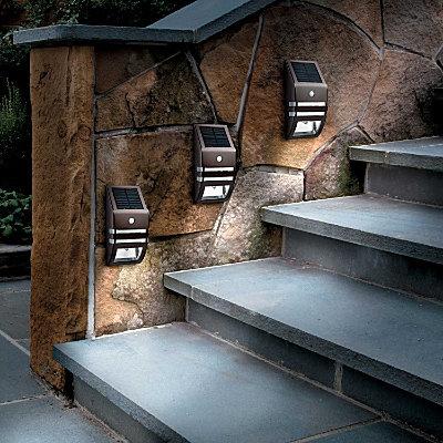 Solar step light for the home pinterest for Solar lights for patio steps