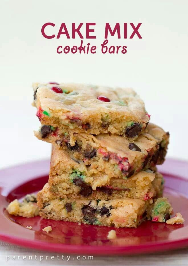 Cake mix cookie bars | just cookies | Pinterest