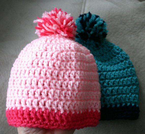 Crochet Baby Hat Pattern With Pom Pom : Crochet baby hat with pom pom