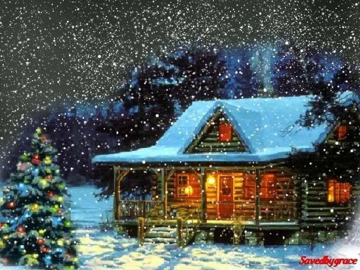 Log cabin christmas christmas pinterest for Country cabin christmas