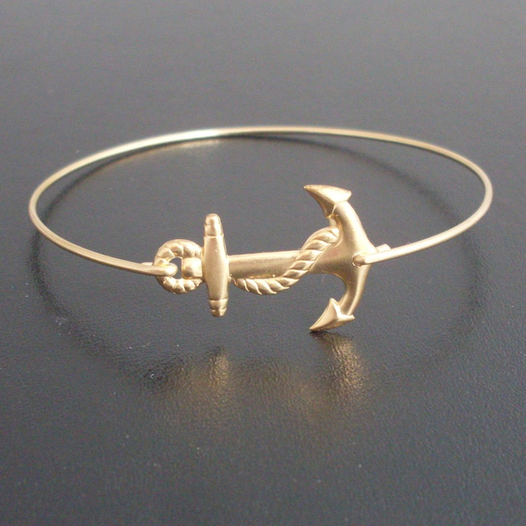 Anchor Bracelet / frostedwillow on etsy