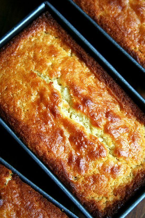Lemon Ricotta Pound Cake With Berries Recipe — Dishmaps