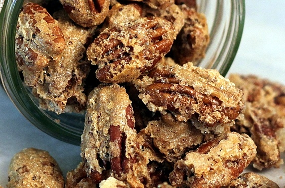Sugar & Spice Candied Pecans - for snacking, salads, or ice cream