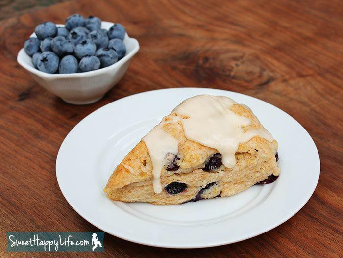 Blueberry Scones with Maple Glaze