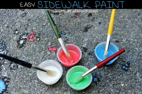 easy diy chalk paint chalk ideas for kids pinterest. Black Bedroom Furniture Sets. Home Design Ideas