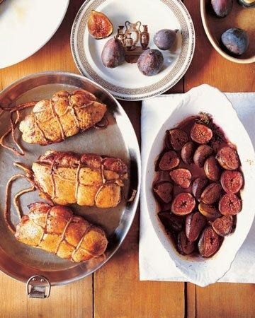 Double Duck Breasts with Baked Figs Recipe