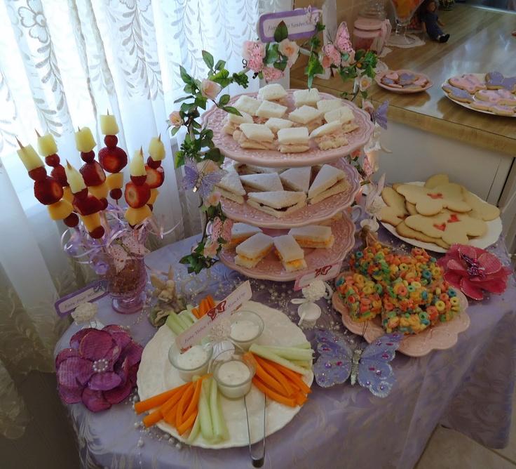 Fairy food table great kids party idea fairy theme foods - Kids party food table ideas ...