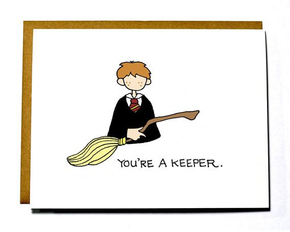Ron Weasley Valentine, Funny, Geeky Valentine's Day card, Harry Potter @magiehite for Billy!