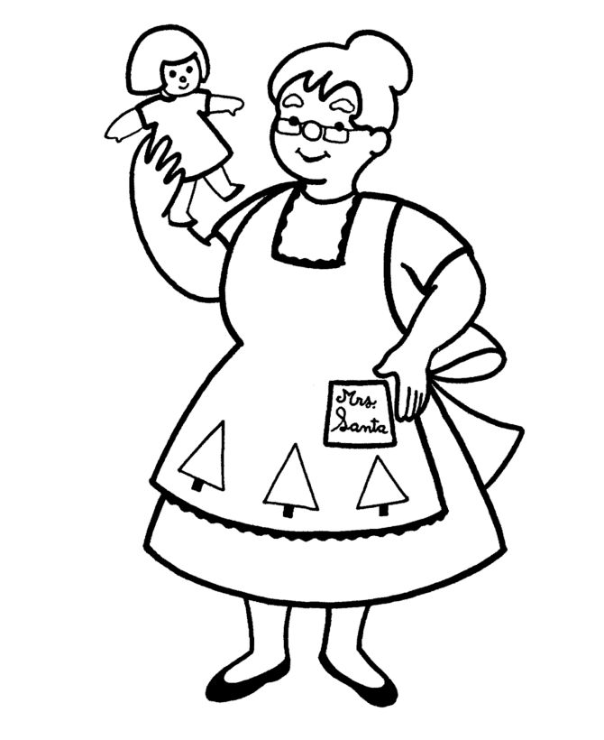 cute mrs claus coloring pages - photo#33