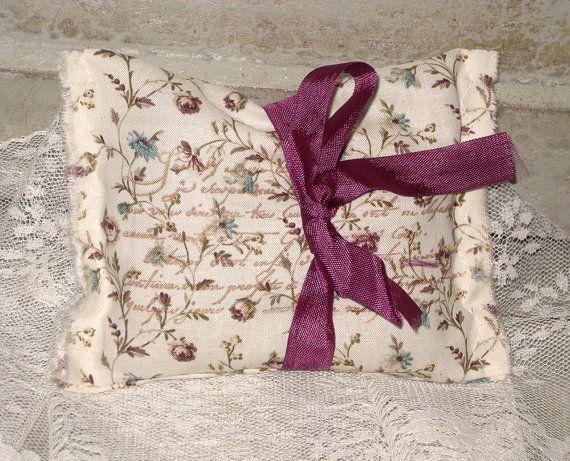 Lavender Sachet Vintage French Floral Lavender Sachet Handmade using ...