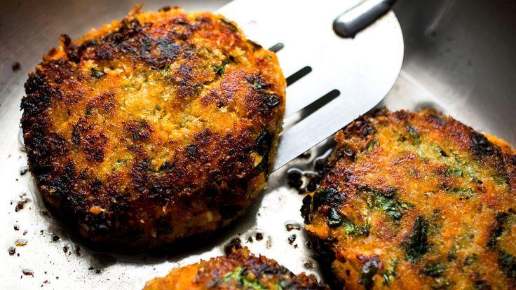 ... , Quinoa, Spinach and Red Lentil Burger (sub Queso Fresco for Feta