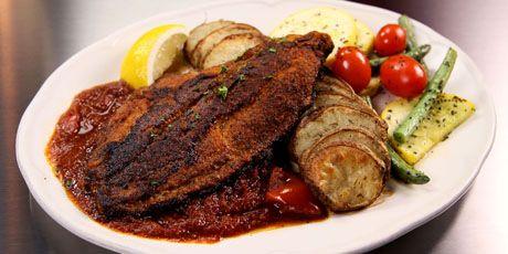 Blackened Catfish With Creole Sauce Recipe — Dishmaps