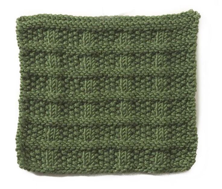 Seed Stitch Blocks Knitting Pinterest