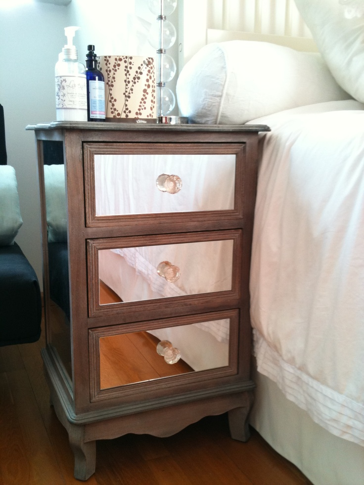 discount mirrored nightstand 2