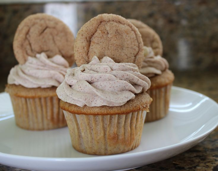 Snickerdoodle Cupcakes   Recipes to try   Pinterest