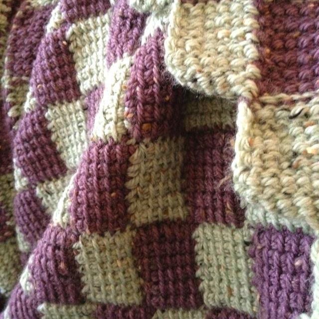 Crochet Entrelac : Entrelac Crochet Blanket. I Love Crochet #10 Pinterest