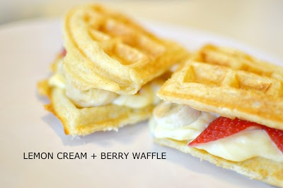 Lemon Cream & Berries Waffle | Recipes and Food Love | Pinterest