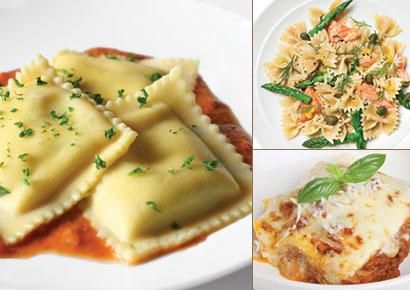Healthy Pasta Meals 400 calories or less!