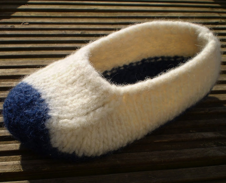 Knitting Pattern For Wool Slippers : felted wool slippers pattern Story book stuff.