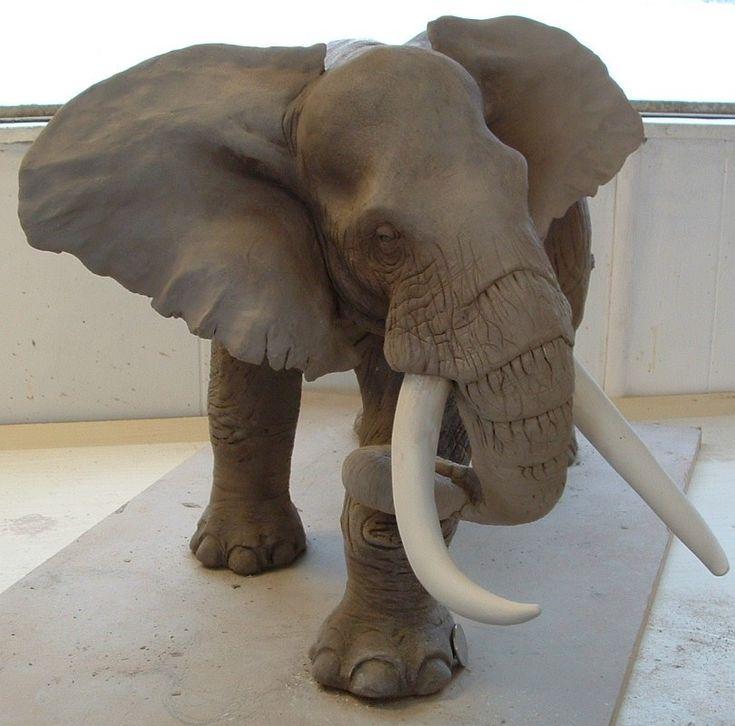 Clay Elephant. | fire clay | Pinterest