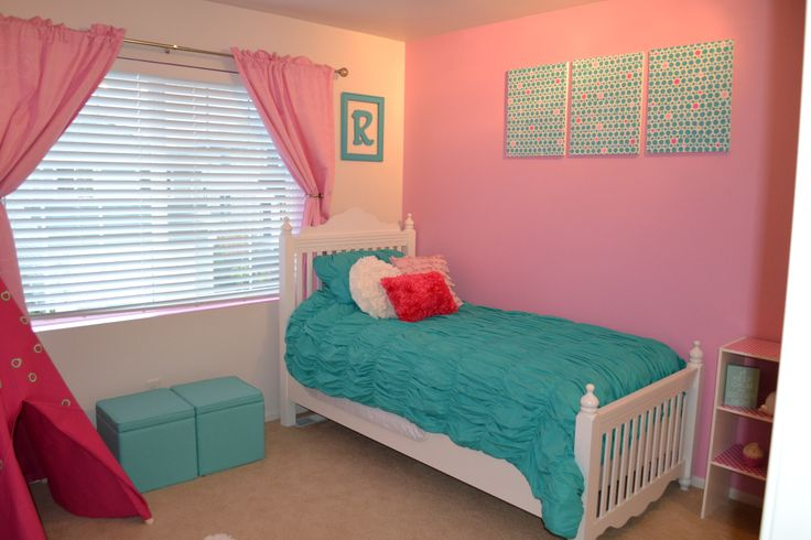 Pink and turquoise girls room girls room decor pinterest for Turquoise and pink bedroom