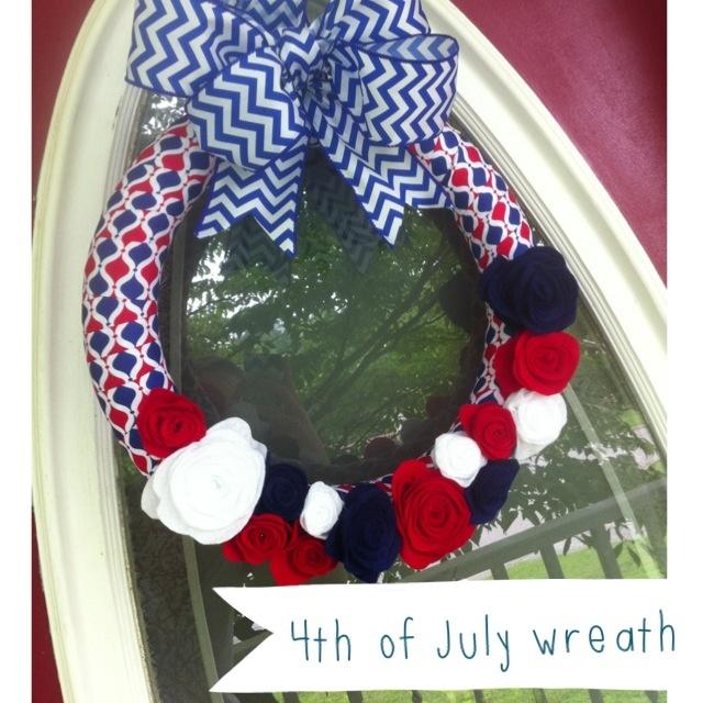 fourth of july felt wreath