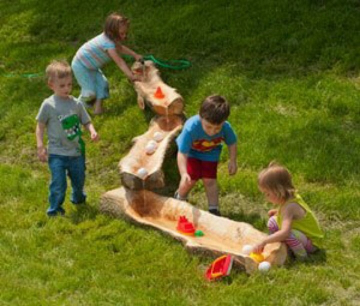 Water fun natural playground ideas pinterest - Natural playgrounds for children ...