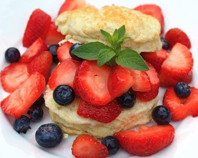 Lemon Buttermilk Shortcakes with Berries | Two Peas & Their Pod