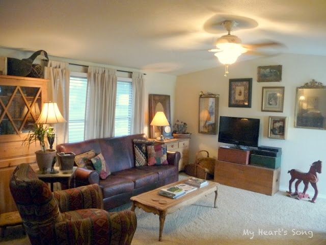 interior of old mobile homes that have been remodeled