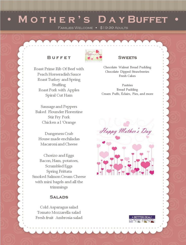 Mothers Day buffet Dining At River Rock Casino