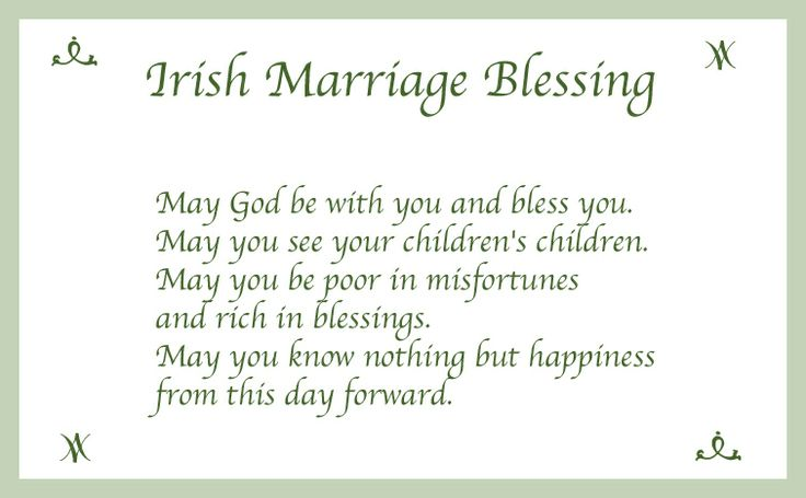 Irish Marriage Blessing Quotes QuotesGram
