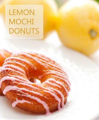 Yee-Foodie: Donut Challenge #1 - Baked Lemon Honey Mochi Donuts