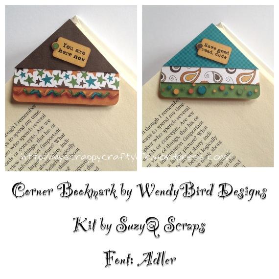 corner bookmark wendybird designs paper crafts pinterest