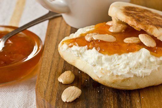 snack recipe english muffins with apricot preserves amp feta spread ...