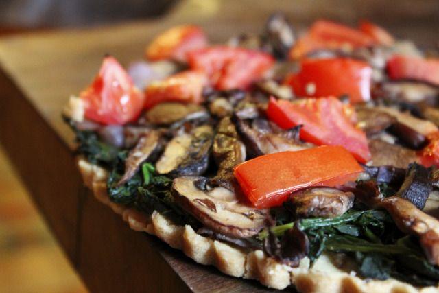 mushroom and spinach tart | my next dinner party | Pinterest