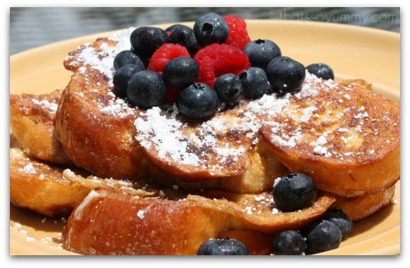 Challah French toast...a sub when Panetone is not available.