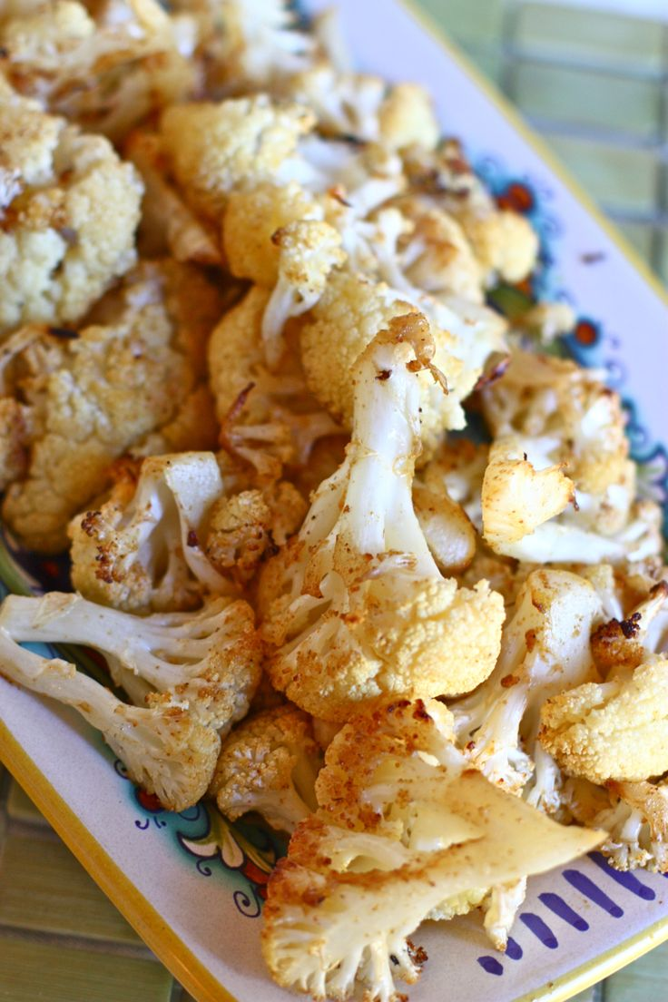 Spicy Roasted Cauliflower - this is REALLY good. Even Matt mentioned ...